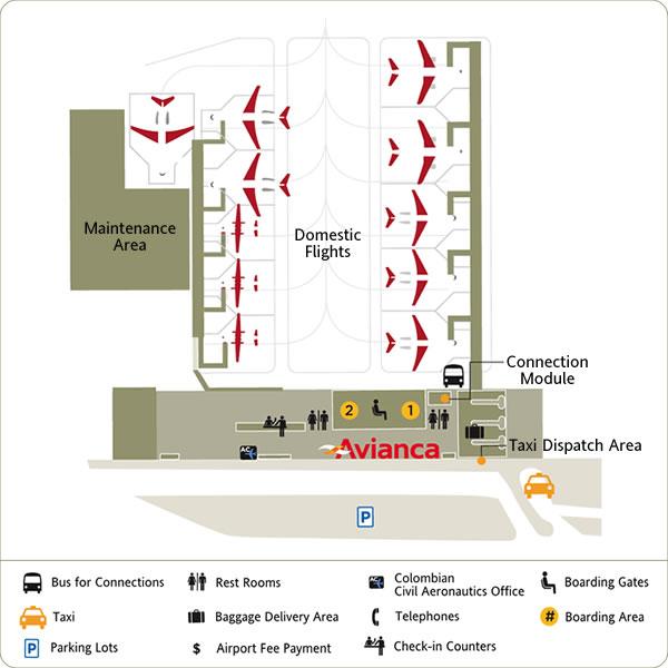 Mapa de El Puente, aeropuerto de Bogota