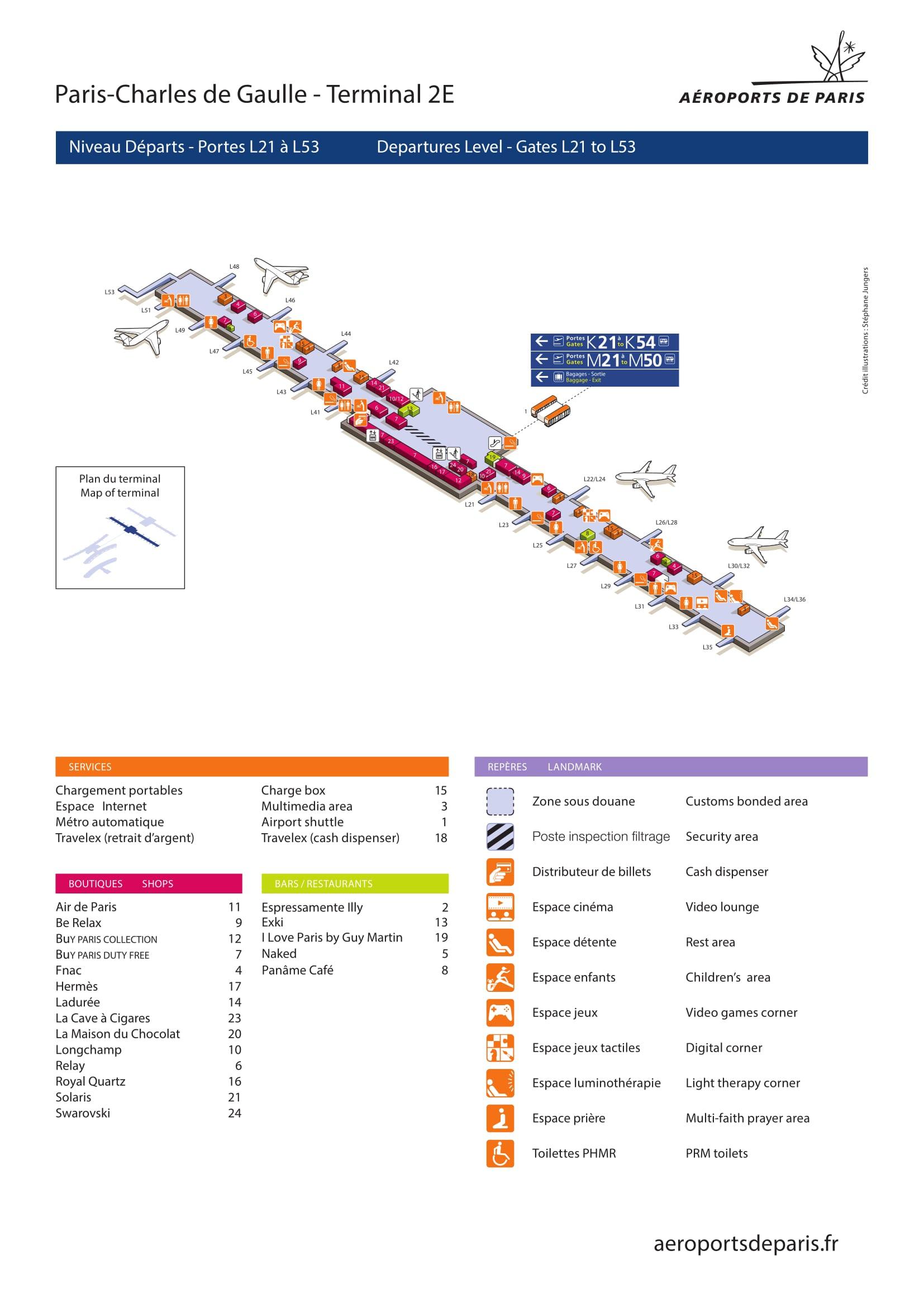 Mapa de la Terminal 2E2