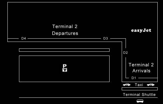 Mapa de la Terminal 2 del aeropuerto de Milan Malpensa